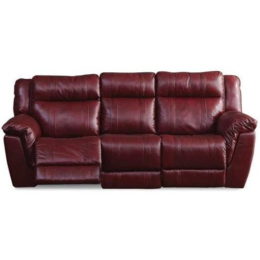 Red Leather-Match Power Reclining Sofa - K-Motion