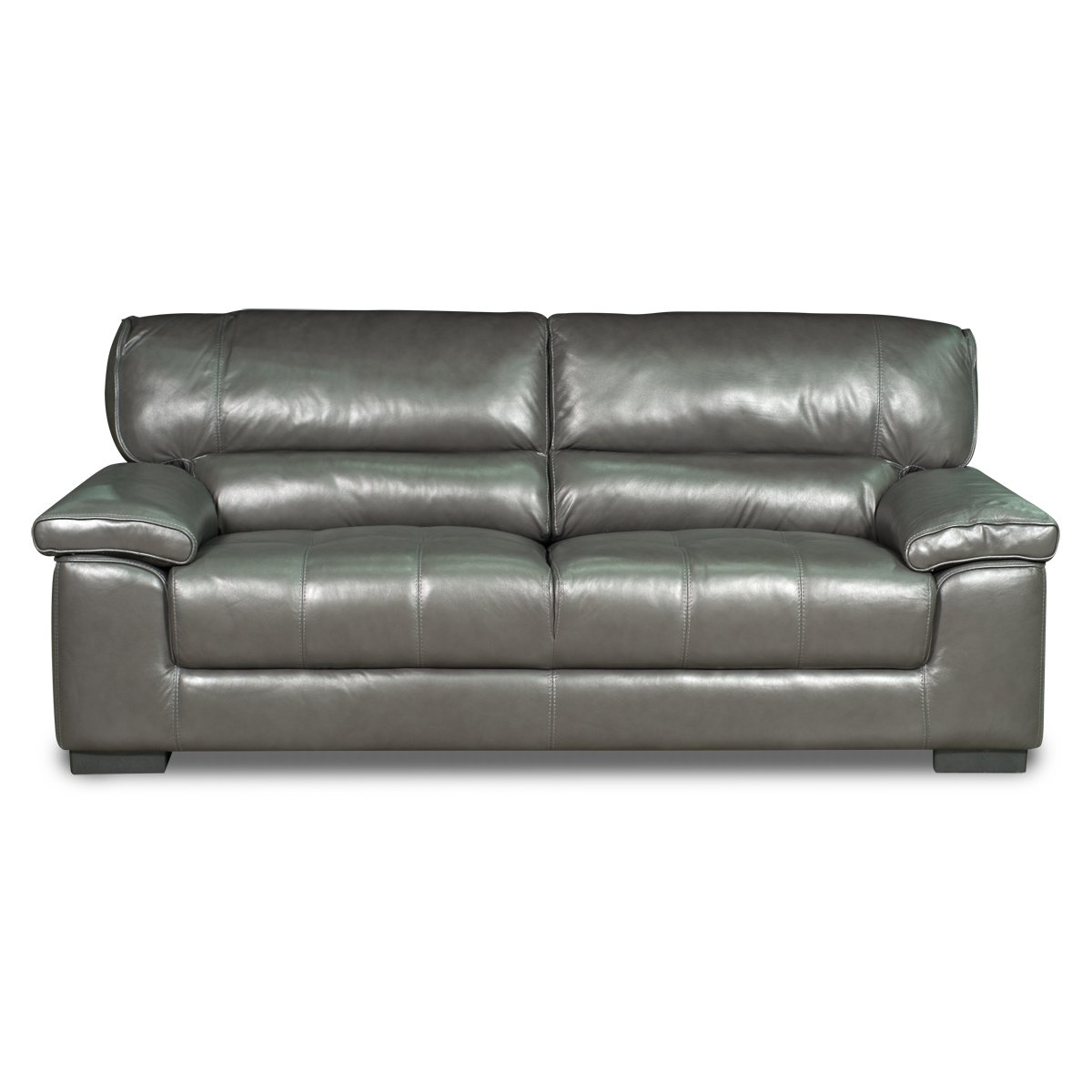 Milan 89 Grey Leather Sofa