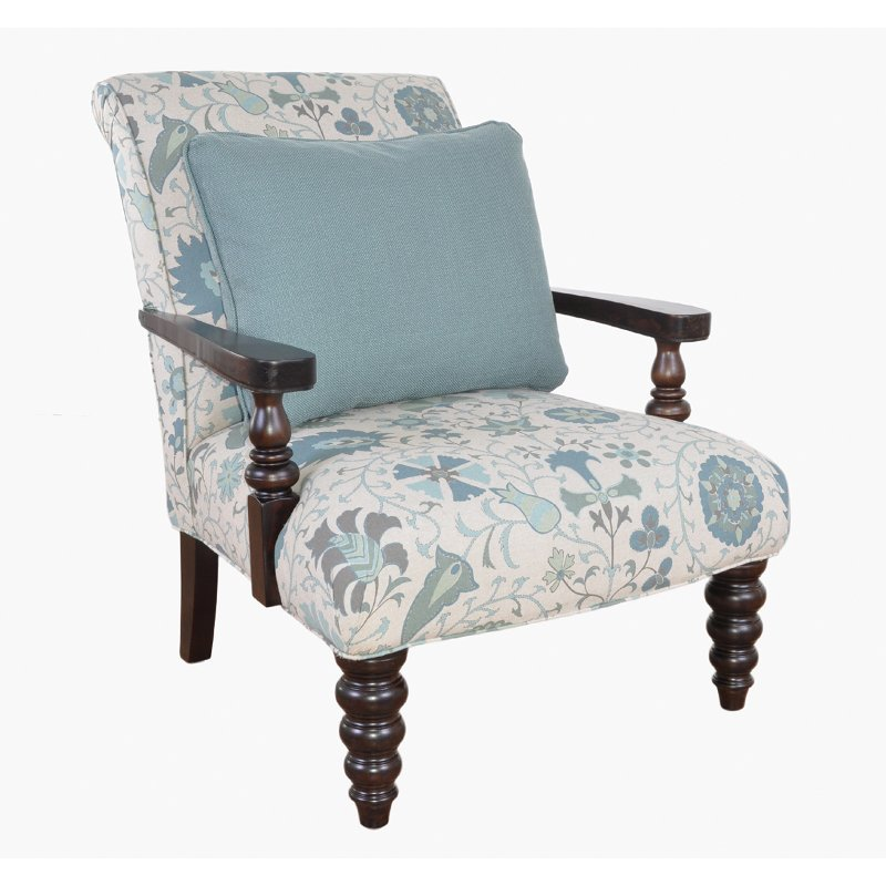 40 Floral Upholstered Accent Chair