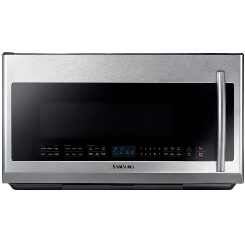 Me21f707mjt Samsung 2 1 Cu Ft Over The Range Microwave Oven Stainless