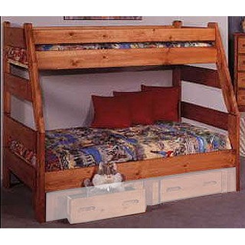 Cinnamon Rustic Pine Twin Over Full Bunk Bed Palomino Rc Willey