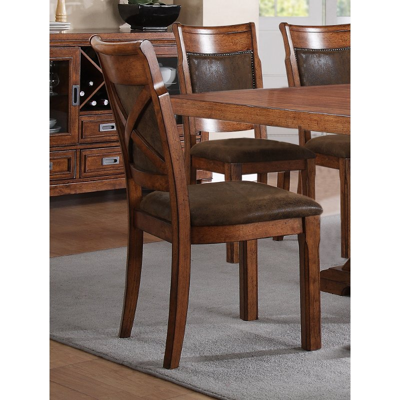 Brown Dining Room Chair - Caramel | RC Willey Furniture Store
