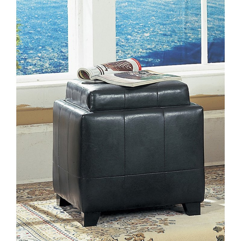 Strange Espresso Storage Ottoman With Tray Gmtry Best Dining Table And Chair Ideas Images Gmtryco