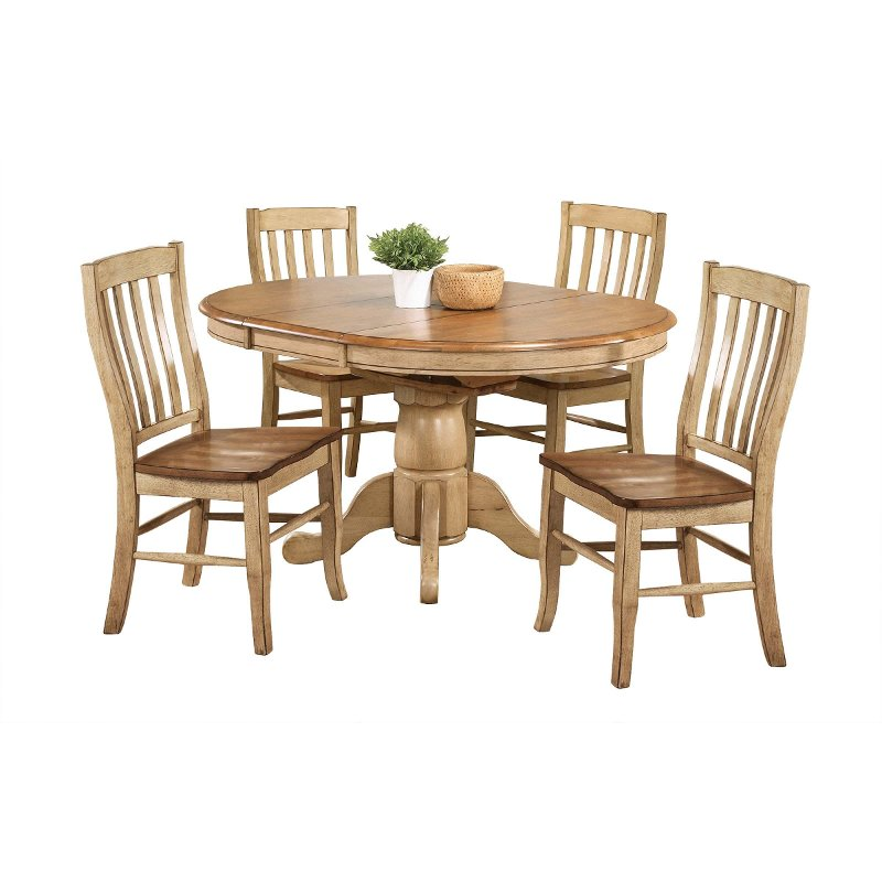 Rake Back Chairs Quails Run Rc Willey, Round Dining Table Sets