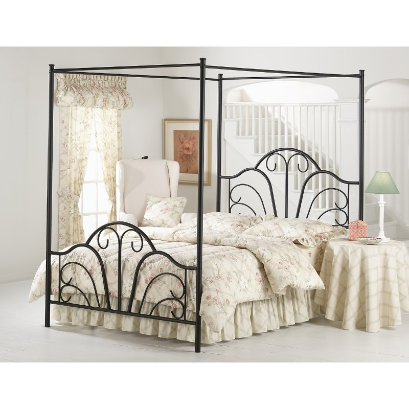 Dover Black Full Canopy Bed