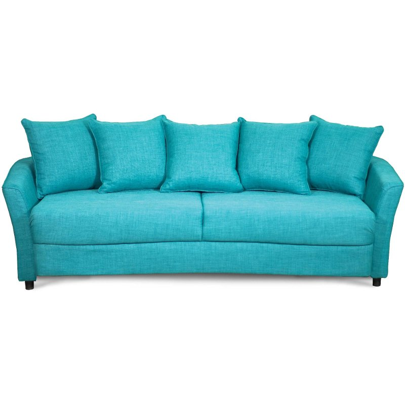 Marana turquoise upholstered casual sofa sleeper Sleeper sofa uk
