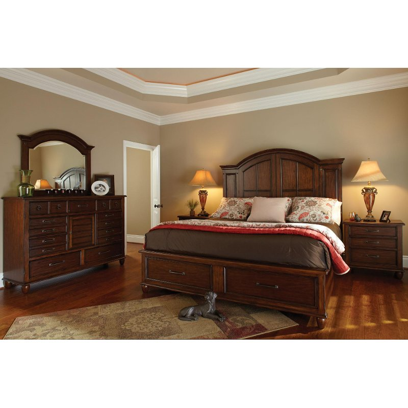 Carolina preserves 6 piece queen bedroom set rcwilley for Furniture queen bedroom sets