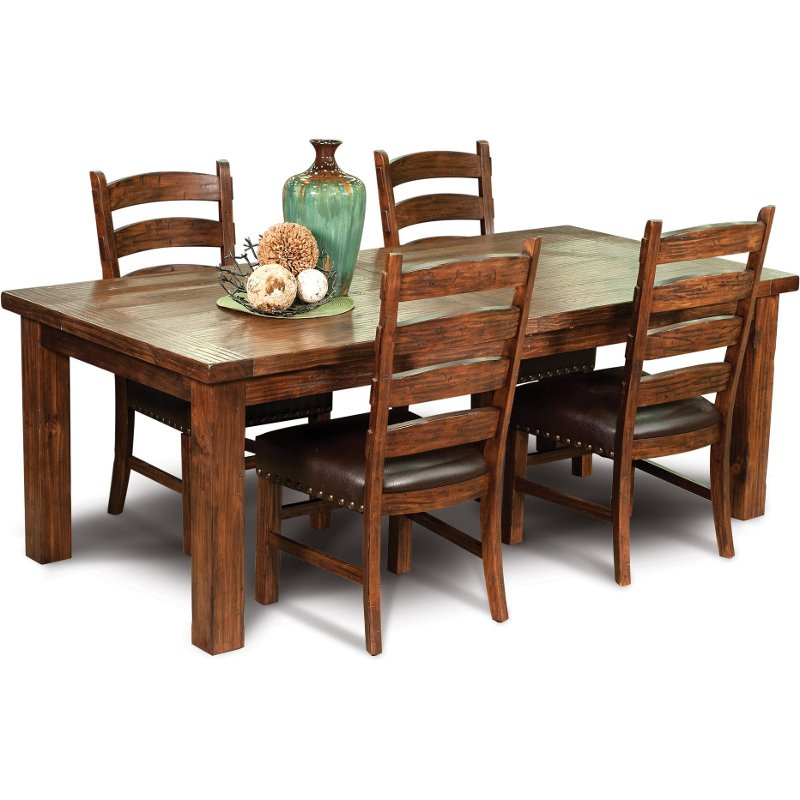 Brown Mission 5 Piece Dining Set Chambers Creek Rc Willey Furniture