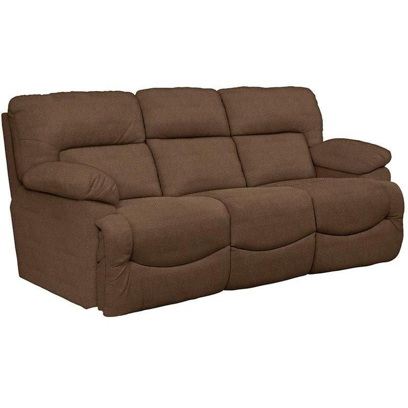 Asher 88 Quot Chocolate Upholstered Reclining Sofa