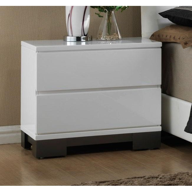 Rc Willey Stores: Modern White Nightstand - Avery