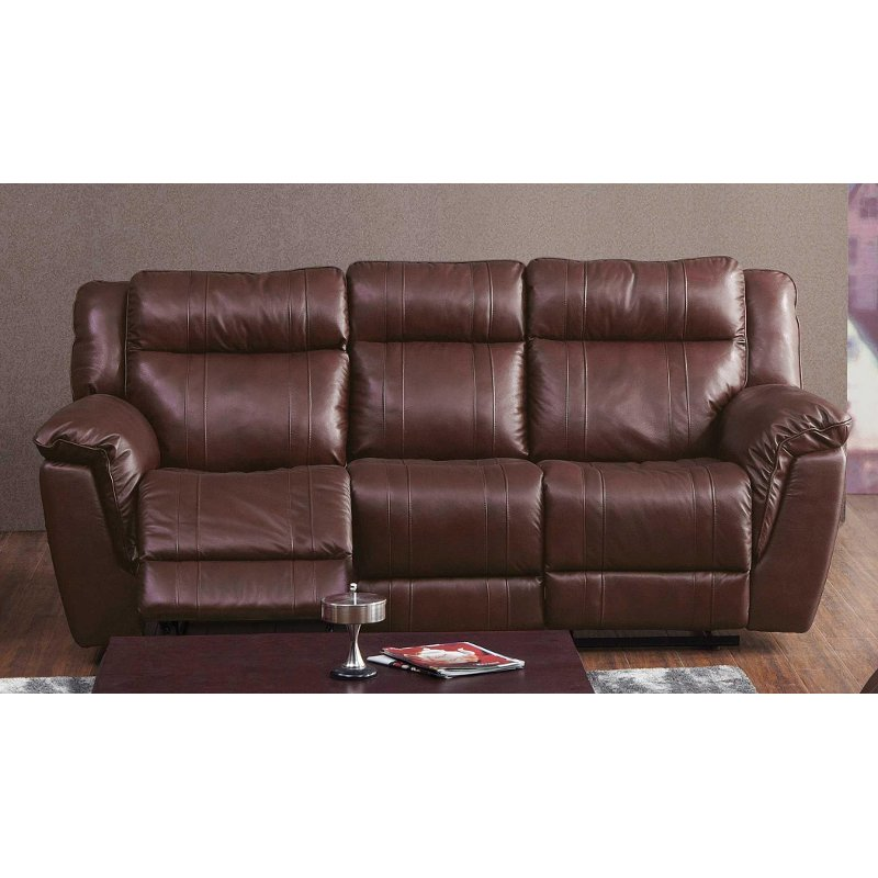 Does Sofa And Loveseat Have To Match: Brown Leather-Match Power Reclining Sofa - K-Motion