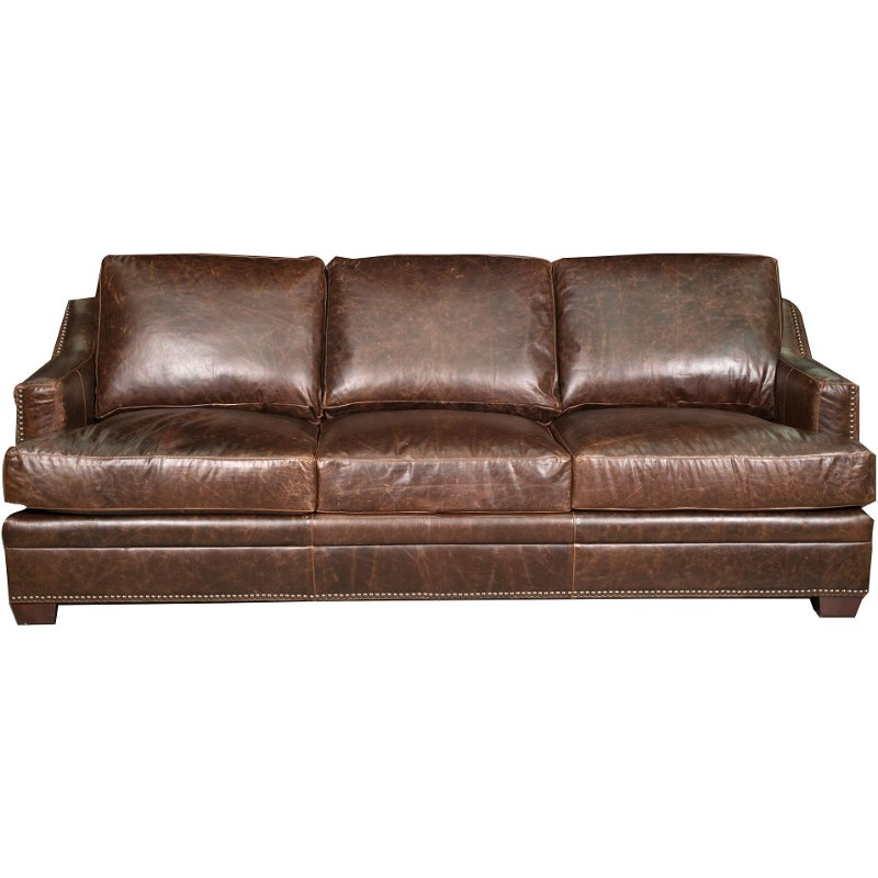Antique 97 Brown Leather Sofa