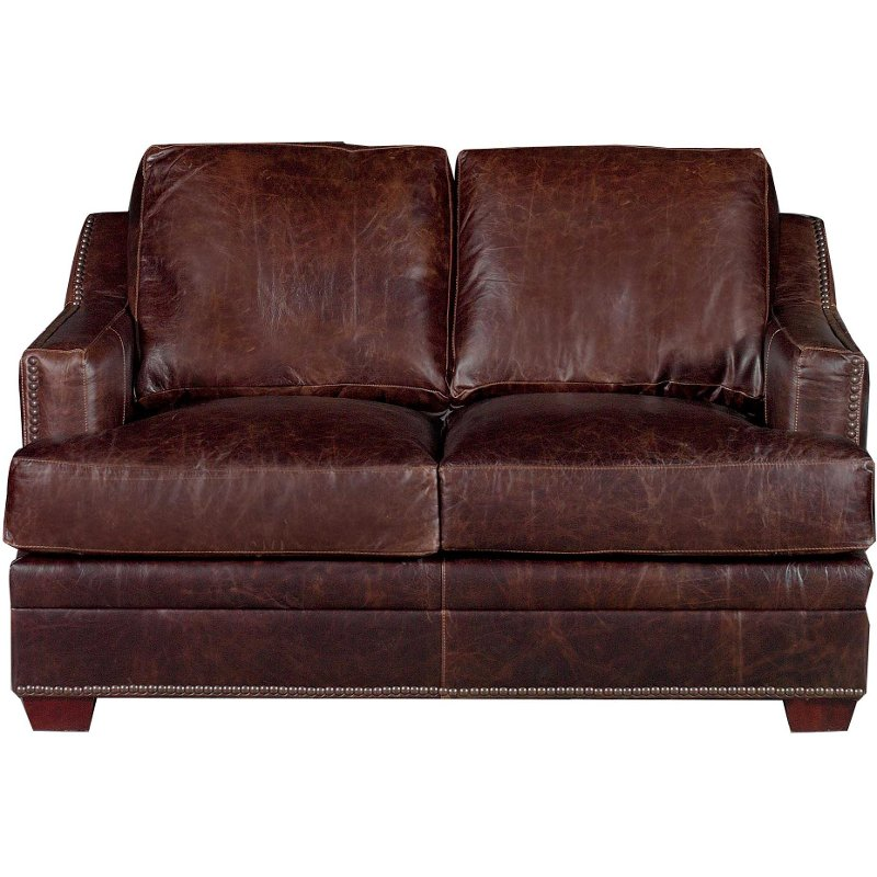 Fabulous Classic Contemporary Brown Leather Loveseat Antique Gmtry Best Dining Table And Chair Ideas Images Gmtryco
