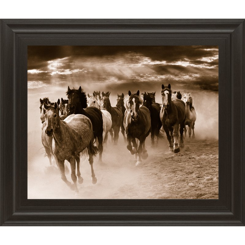 Running Horses Framed Wall Art | RC Willey Furniture Store