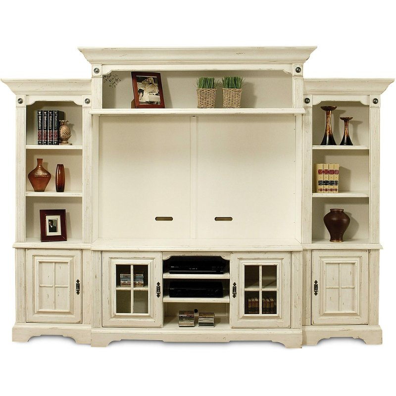 Highland manor white 5 piece entertainment wall unit How to build an entertainment wall unit