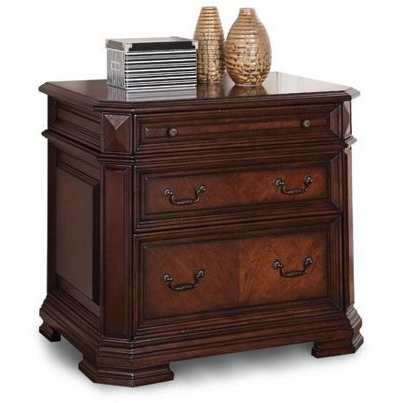Cherry Brown 2 Drawer Lateral File Cabinet Westchester