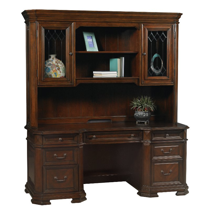 American Furniture Warehouse Mail: Classic Brown Office Desk And Hutch - Westchester