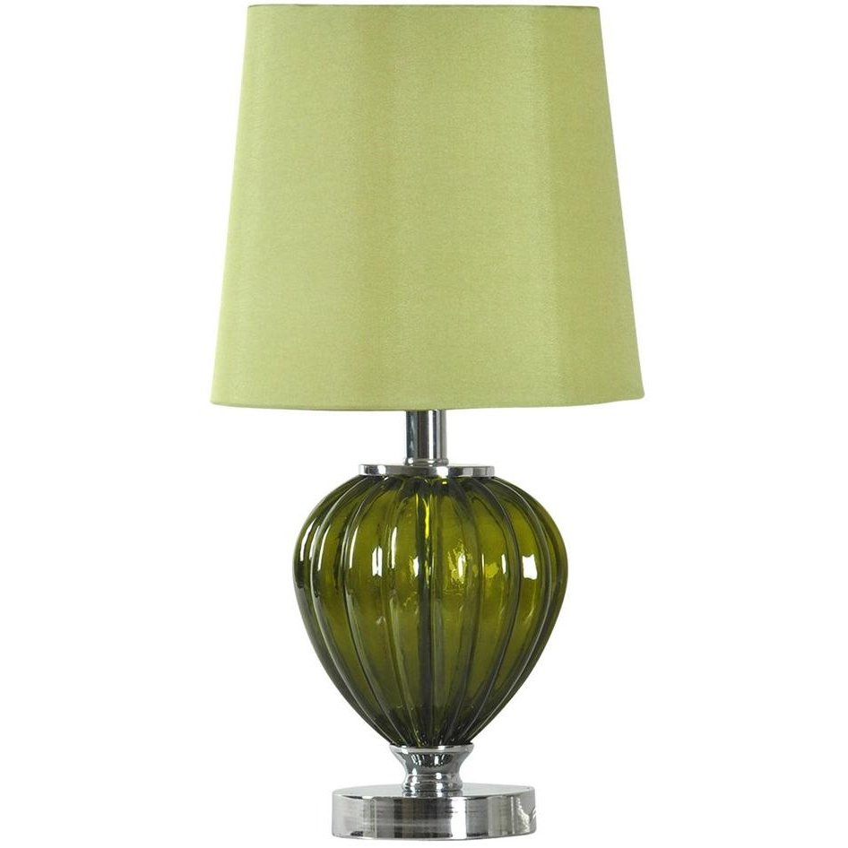 19 green glass table lamp. Black Bedroom Furniture Sets. Home Design Ideas