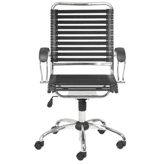 Black Bungee Cord High Back Office Chair Bungie