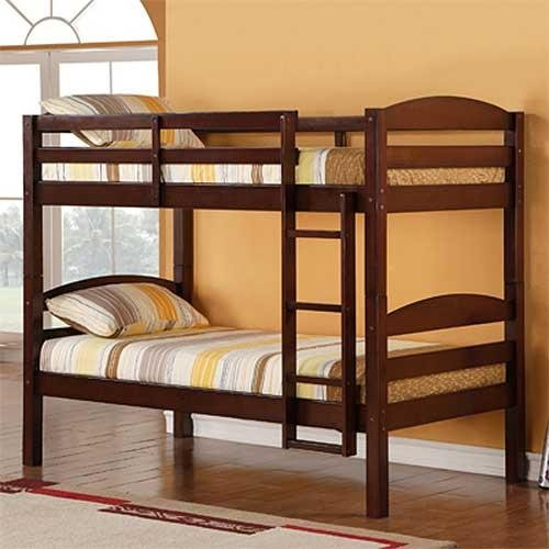 Espresso Solid Wood Twin Over Twin Bunk Bed Rc Willey Furniture Store