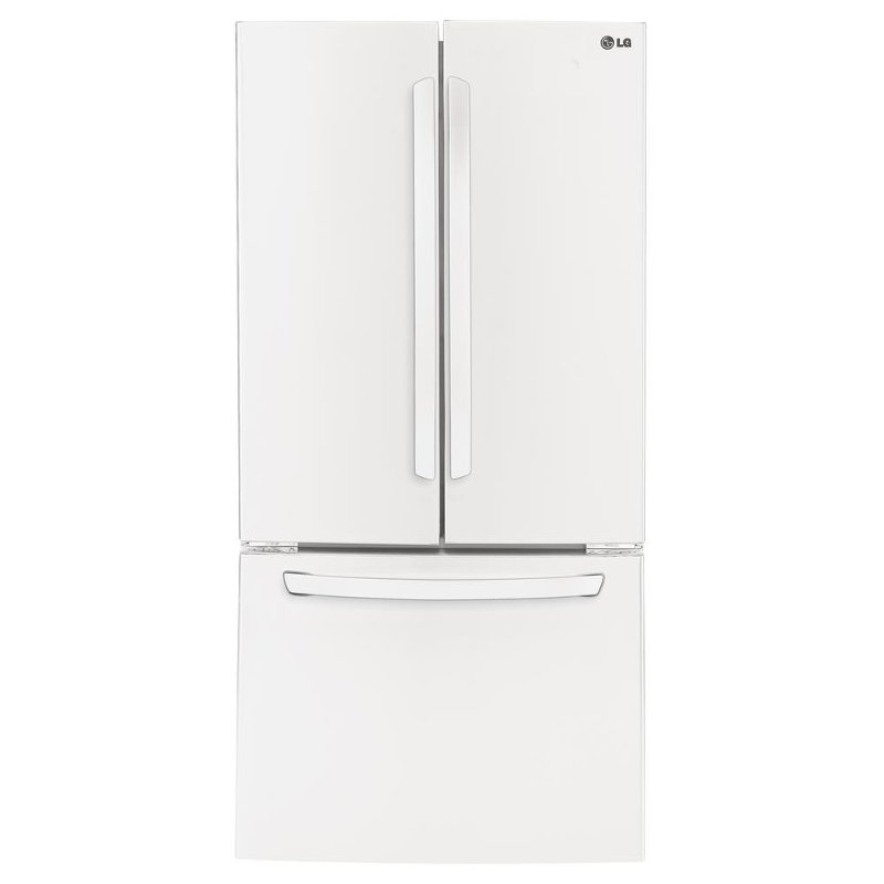 Lg Wide Bottom Freezer French Door Refrigerator 33 Inch White Rc