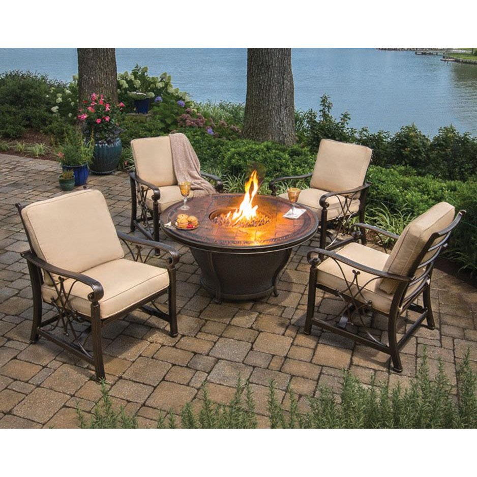 5 Piece Firepit and Chairs