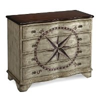 Coast to Coast 4-Drawer Compass Chest