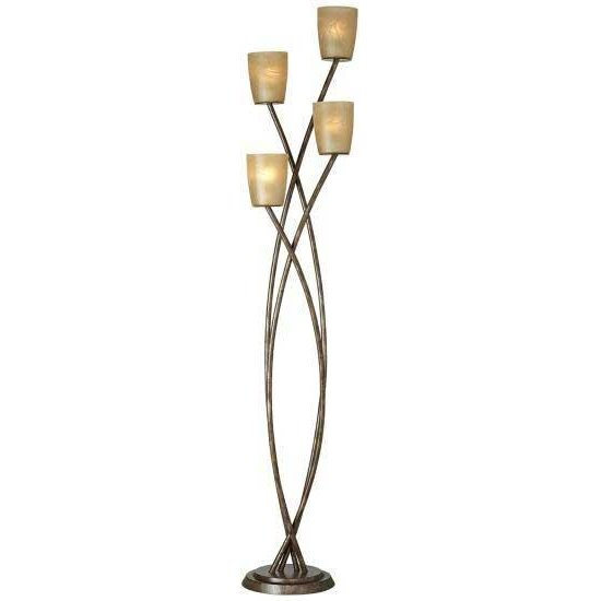 Copper Bronze And Gold Uplight Floor Lamp
