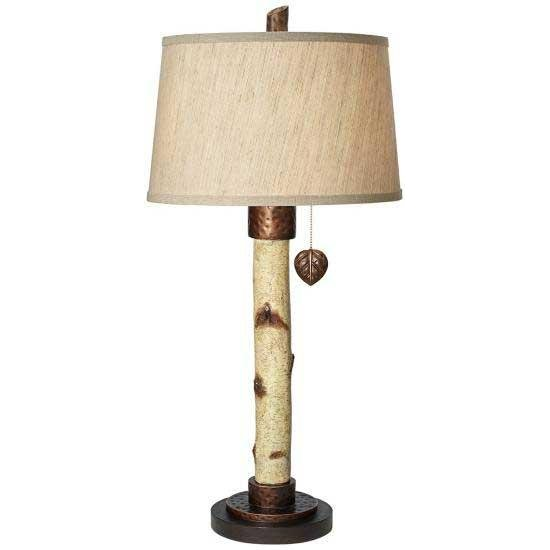 Natural Birch Tree Table Lamp