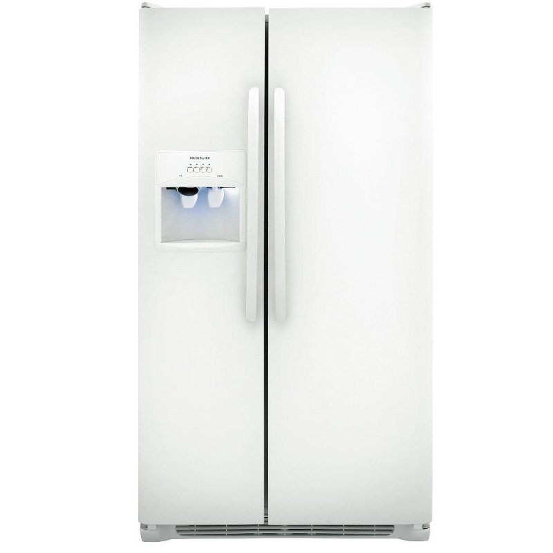 Frigidaire 36 Inch White 26 Cu Ft Side By Side Refrigerator Rc Willey Furniture Store
