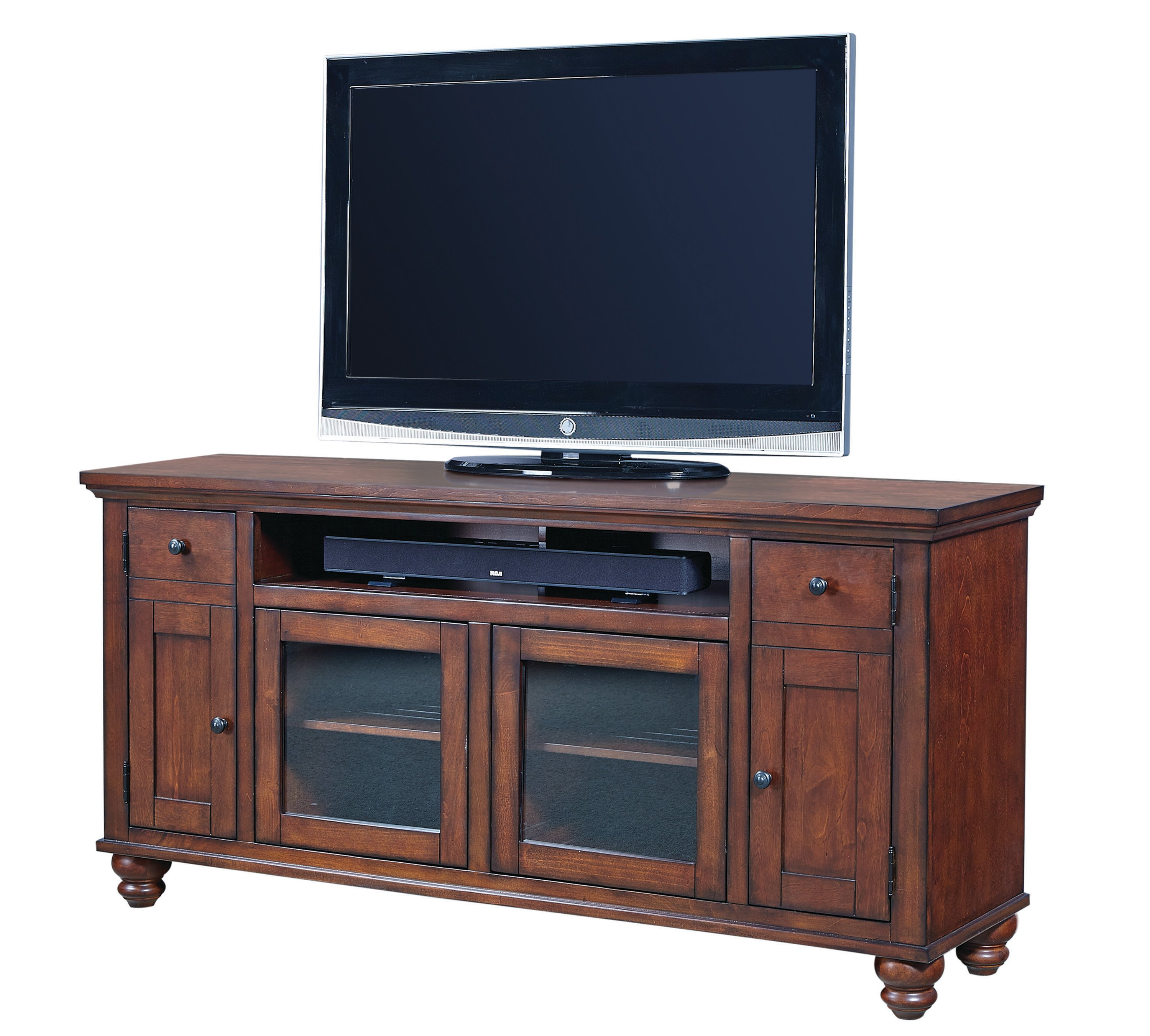 4 piece cherry brown entertainment center cambridge rc willey furniture store. Black Bedroom Furniture Sets. Home Design Ideas