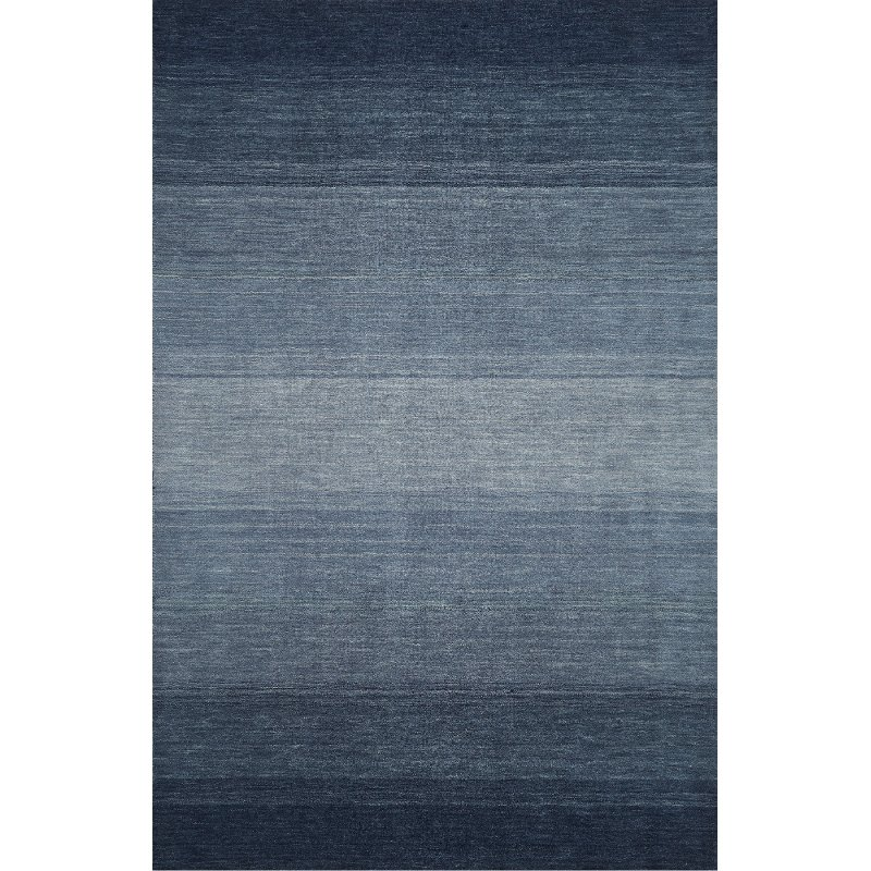 5 X 7 Medium Ombre Navy Blue Area Rug Torino Rc Willey Furniture Store