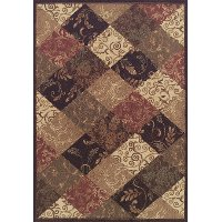 8 X 11 Large Blocked Brown Area Rug Capri Rc Willey