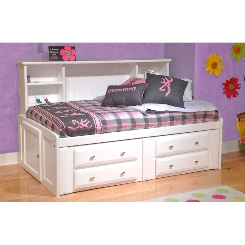 Rc Willey Stores: White Full Contemporary RoomSaver Storage Bed