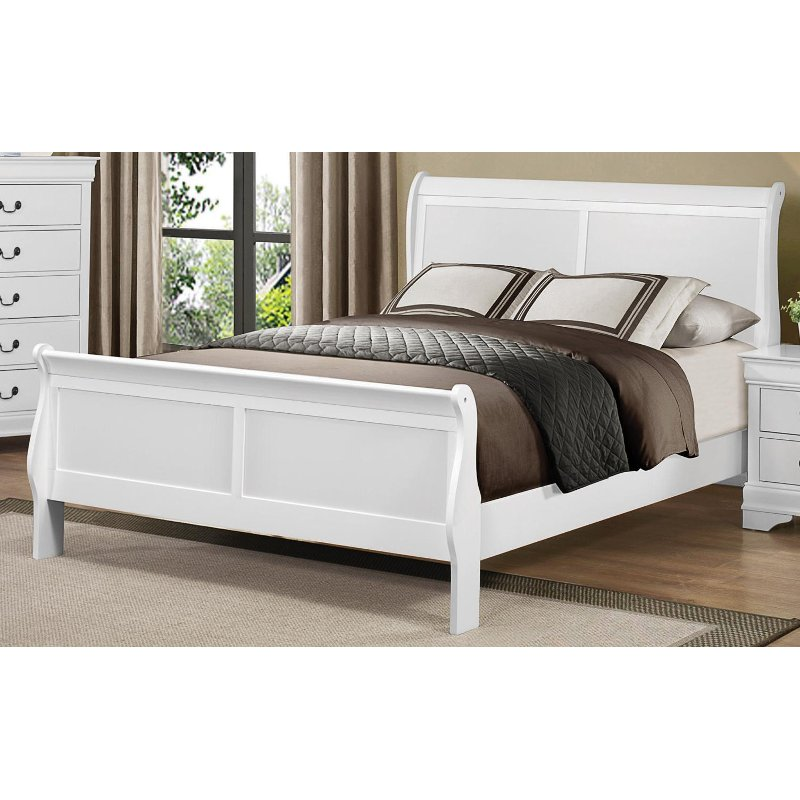 White King Size Sleigh Bed Mayville Rc Willey Furniture Store