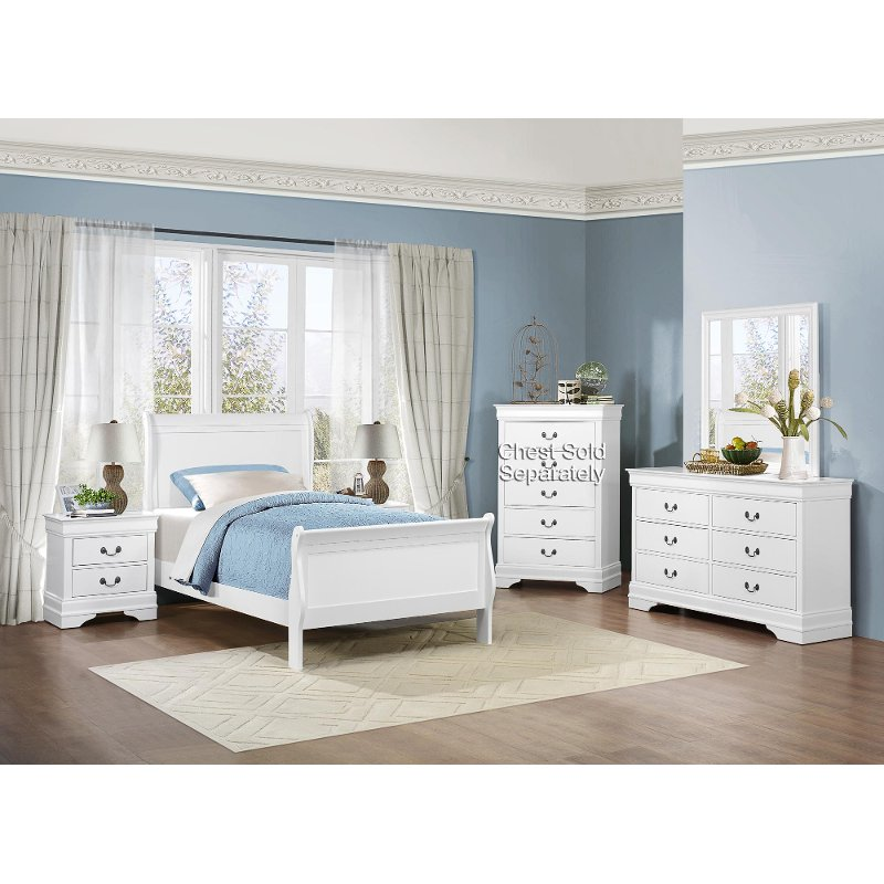 White 4 Piece Twin Bedroom Set Mayville Rc Willey Furniture Store