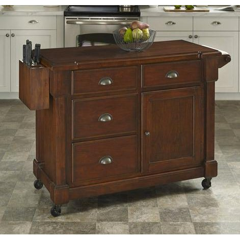 rustic cherry kitchen cart