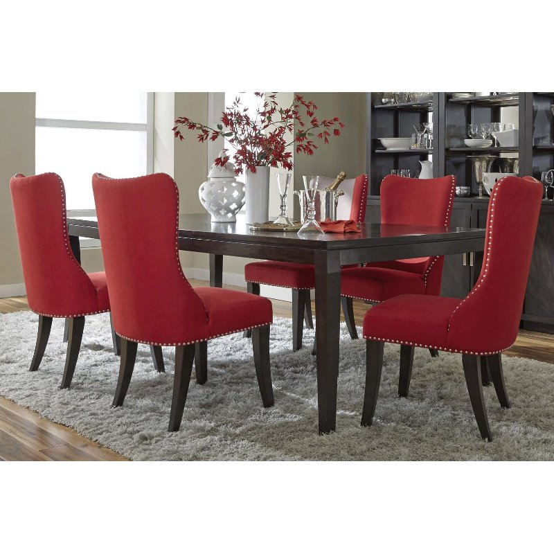 platinum collection red 5 piece dining set