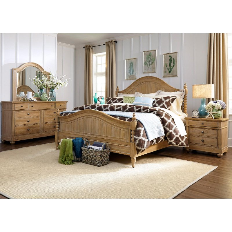 harbor view sand 6 piece king bedroom set rcwilley image1