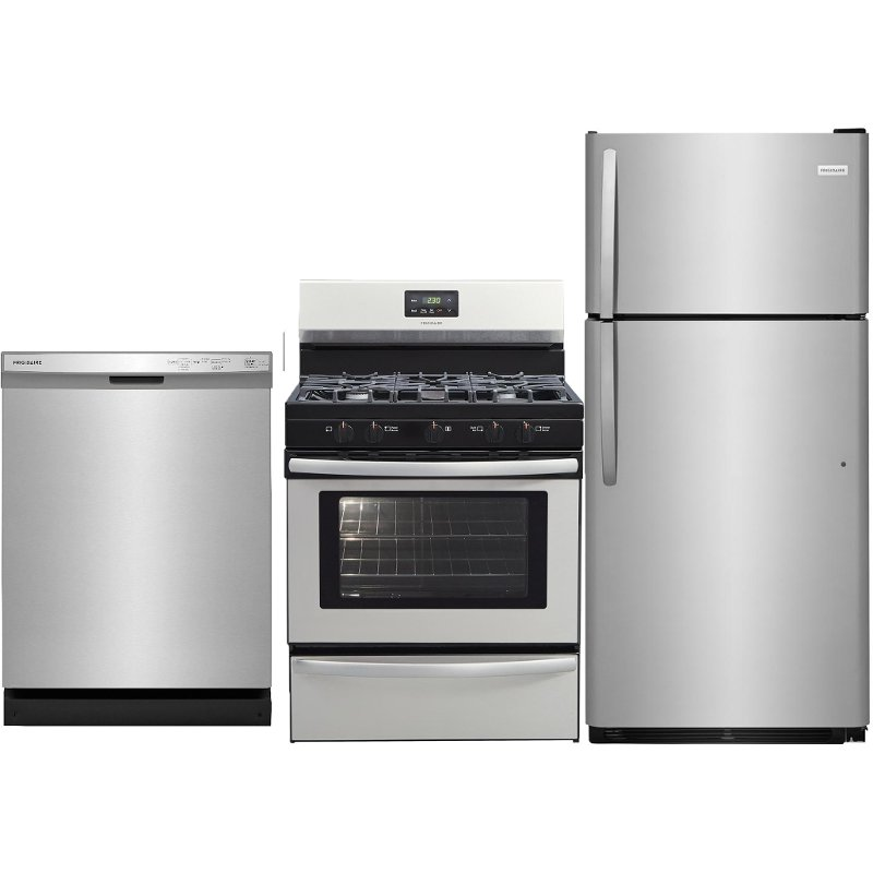 Frigidaire 3 Piece Kitchen Appliance Package with Gas Range ... on ge kitchen appliances packages, discount stainless steel appliance packages, bosch kitchen appliances packages,