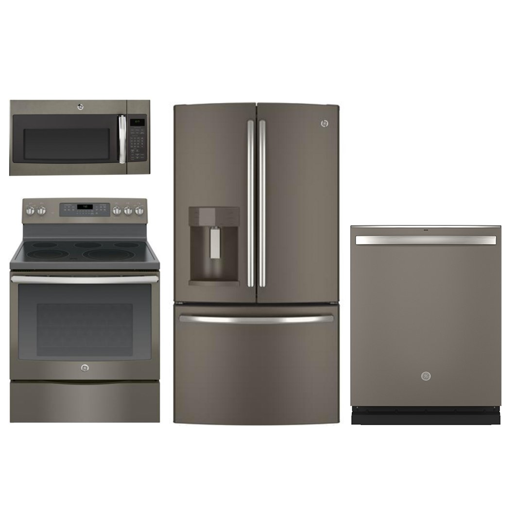 Ge Slate 4 Piece Kitchen Appliance Package With 30 Inch