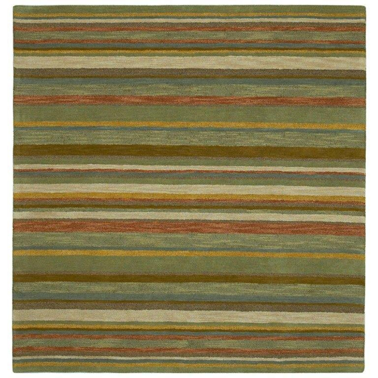 8 Square Green Striped Area Rug Tara Rc Willey Furniture Store