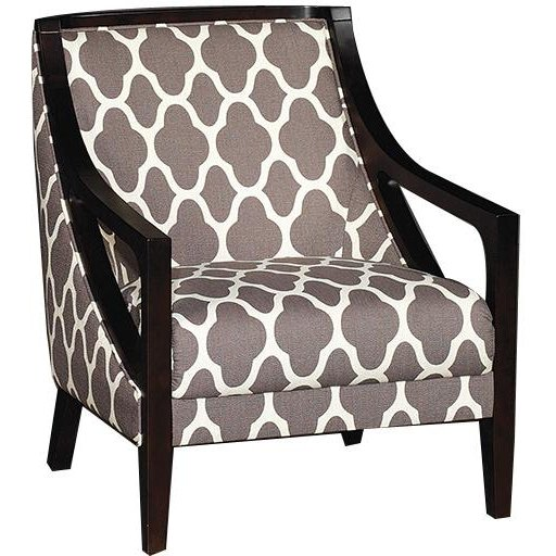 Superbe Contemporary Gray Pattern Accent Chair   Nigel