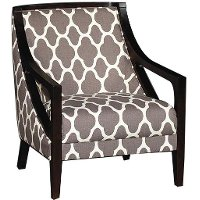 Nigel 39 Quot Gray Pattern Upholstered Accent Chair Rc