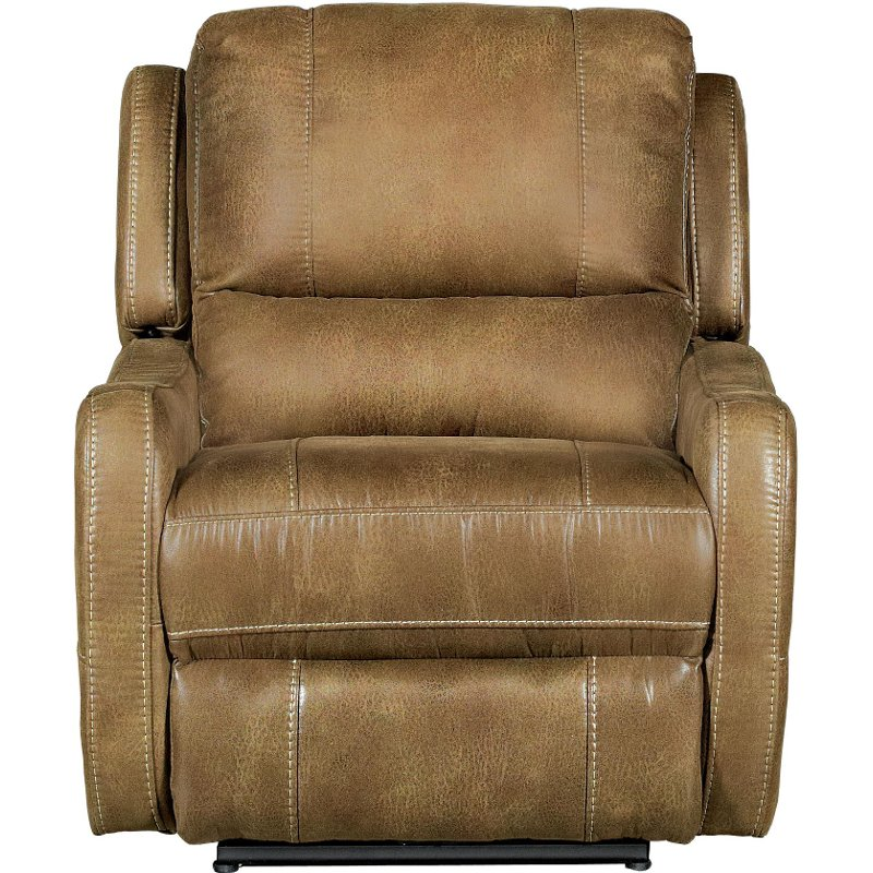 Brown Power Lay Flat Recliner Rc Willey Furniture Store