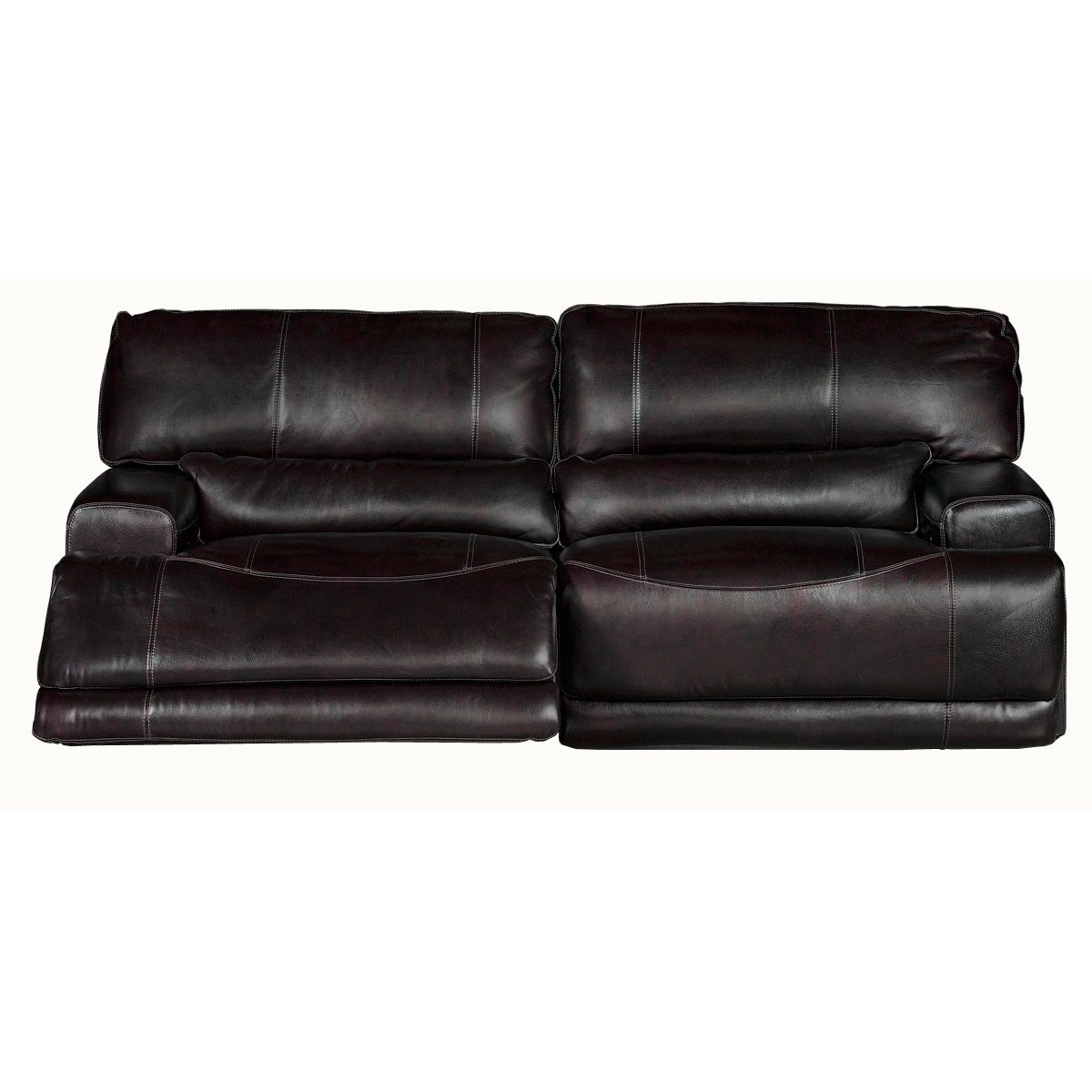 Blackberry Leather Match Reclining Sofa Stampede
