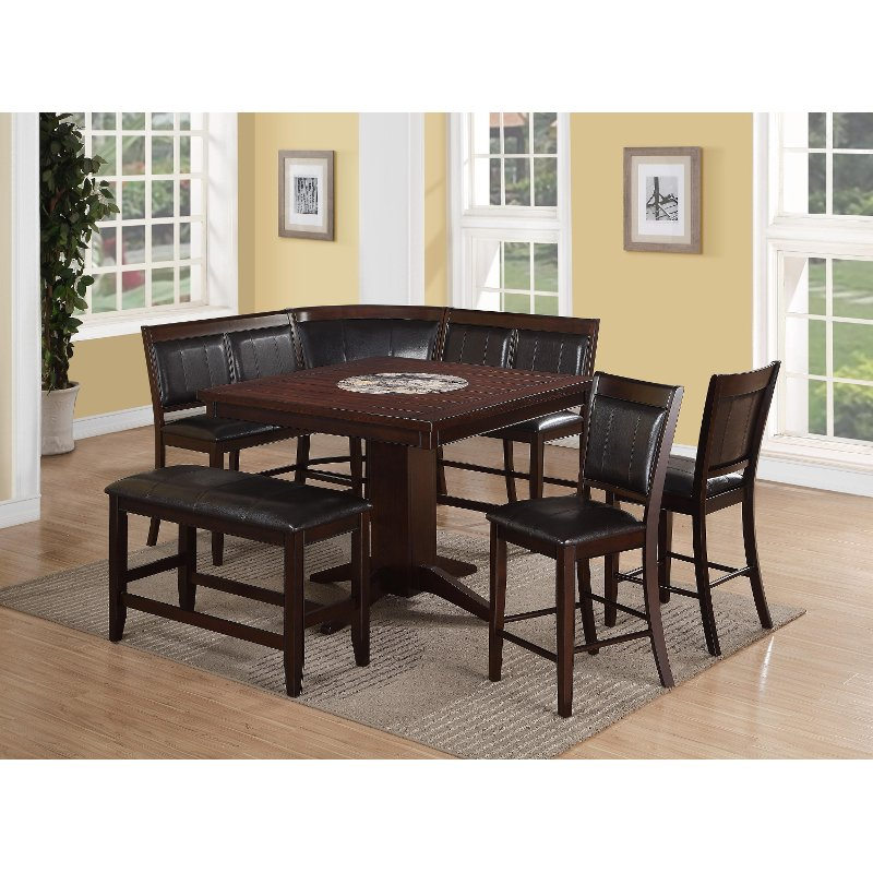 Harrison brown 4 piece counter height dining set for 4 piece dining room set