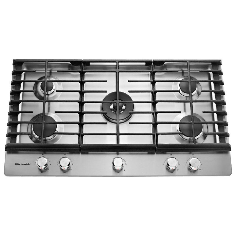 KitchenAid 36 Inch Gas Cooktop   Stainless Steel | RC Willey Furniture Store