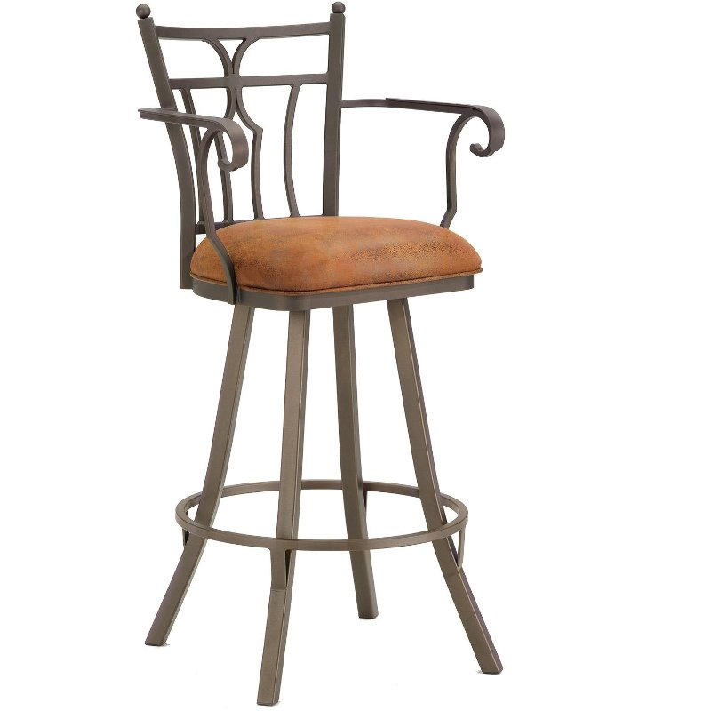 Stupendous Randle 30 Inch Swivel Bar Stool With Arms Machost Co Dining Chair Design Ideas Machostcouk
