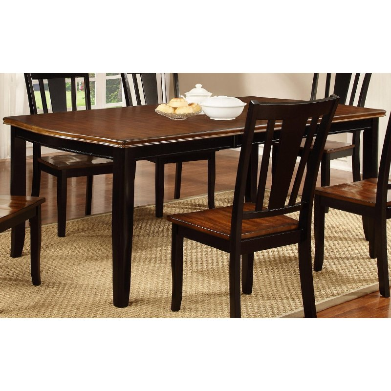 Black and Cherry Dining Table - Dover Collection